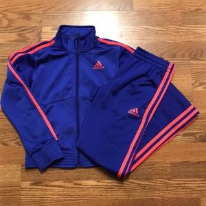 Girls adidas track suit